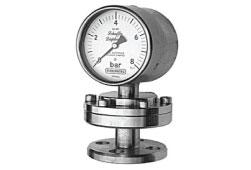 Budenberg 91-CFN Schaffer Diaphragm Gauge, Stainless Steel with Flanged Connection