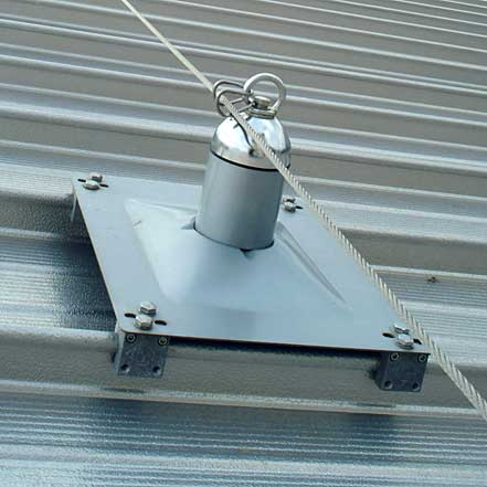 Latchways MSA Constant Force Post Standing Seam Roof